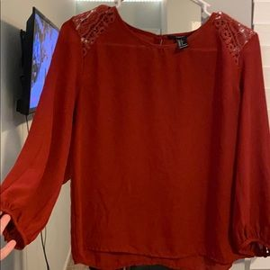 Burnt orange blouse